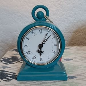 Blue Mod Clock - small Foreside NWT
